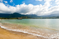 Hanalei bay, Kauai, Hawaii Stock Photos