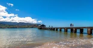 Hanalei fjärd, Kauai ö - Hawaii Arkivfoto