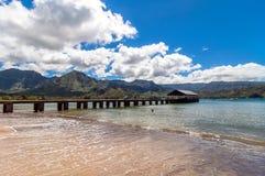Hanalei fjärd, Kauai ö - Hawaii Royaltyfria Bilder