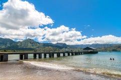 Hanalei fjärd, Kauai ö - Hawaii Royaltyfri Fotografi