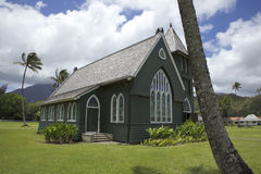 Hanalei Green church. On the island of Kauai Stock Images
