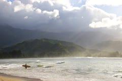 hanalei Kauai bay fotografia royalty free