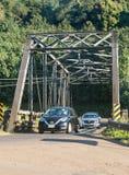 Old steel girder bridge on road to Hanalei in Kauai royalty free stock photos