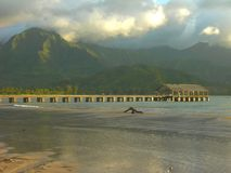 Hanalei Pier, Kauai Royalty Free Stock Photos