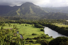 Hanalei Valley, Kauai, Hawaii Stock Images