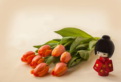 Hanami flowering tulips. (Mass-produced product) Stock Photography