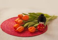Hanami flowering tulips. (Mass-produced product) Stock Image