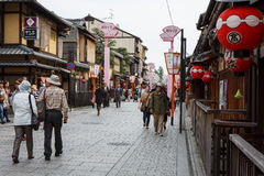 Hanami-Koji Street in Kyoto, Japan Royalty Free Stock Image
