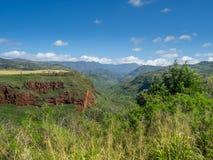 Hanapepe dal på ön av Kauai Arkivbilder
