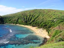 Hanauma Bay. View of Hanauma Bay beach park in Hawaii Stock Photography