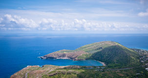 Hanauma Bay from Koko Head Crater Royalty Free Stock Photo