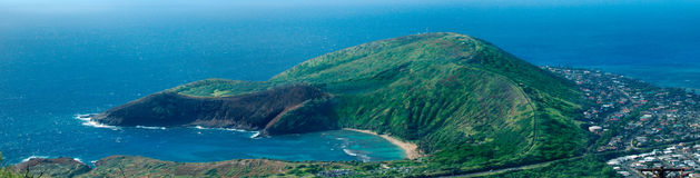 Hanauma Bay Natural Preserve panorama Royalty Free Stock Photos