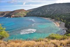 HANAUMA BAY IN OAHU, HAWAII Royalty Free Stock Images