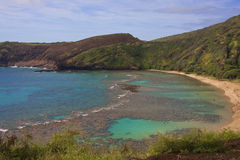 Hanauma Bay Oahu Hawaii. Hanauma Bay State Park Beach Oahu Hawaii stock images