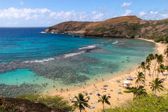 Hanauma Bay in Oahu, Hawaii Royalty Free Stock Image