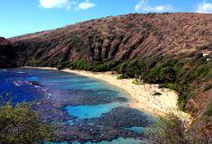 Hanauma bay, Oahu, Hawaii Royalty Free Stock Images