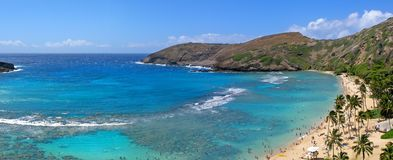 Hanauma Bay panorama Stock Photography