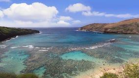 Hanauma bay snorkeling Hawaii Stock Photo