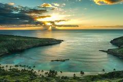 Hanauma Bay. Sunrise over Hanauma Bay on Oahu, Hawaii Royalty Free Stock Image