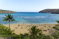 Hanauma bay view, hawaii Stock Photos