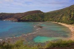 Hanauma fjärd Oahu Hawaii arkivbilder