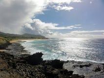 Hanauma Schacht, Hawaii lizenzfreie stockbilder