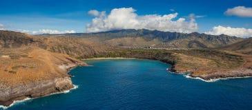 Hanauma Schacht Oahu Hawaii Stockfotos