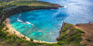 Hanauma strand Hawaii Royaltyfria Foton