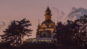 Hanavsky Pavilion after Dark stock video footage