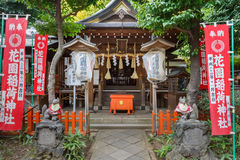 Hanazono Inari relikskrin i Tokyo Arkivfoton