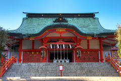 Hanazono Schrein, Shinjuku, Tokyo, Japan lizenzfreie stockfotos