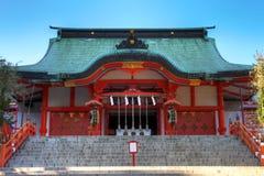 hanazono日本shinjuku寺庙东京 免版税库存照片