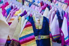 Hanbok韩国传统衣物 免版税库存照片