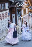Hanbok koreanska traditionella kläder Royaltyfri Bild