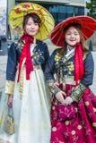 Hanbok koreanska traditionella kläder Royaltyfri Fotografi