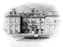 Hanbury Hall, Angleterre photos libres de droits