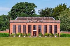 Hanbury Hall oranżeria, Worcestershire, Anglia zdjęcia stock