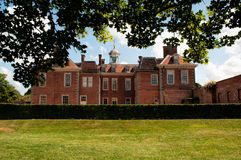 Hanbury Hall. Rear view of Hanbury Hall located in Worcestershire, England. The prperty is owned by the National Trust Royalty Free Stock Photo