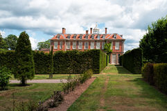 Hanbury Hall. A view of Hanbury Hall taken from the formal gardens, Worcestershire, England Royalty Free Stock Images