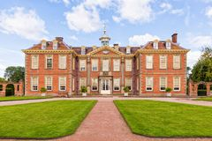 Hanbury Hall, Worcestershire, England. The magnificent Hanbury Hall was built in the William and Mary style for Thomas Vernon in the early 1700s Stock Images