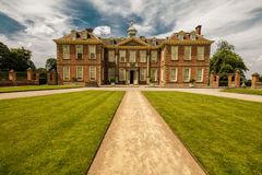 Hanbury Hall in Worcestershire. Hanbury Hall is a large stately home, built in the early 18th century, standing in parkland at Hanbury, Worcestershire. The main Stock Image