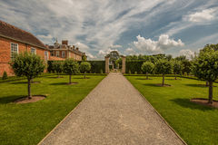 Hanbury Hall in Worcestershire. Hanbury Hall is a large stately home, built in the early 18th century, standing in parkland at Hanbury, Worcestershire. The main Stock Photography