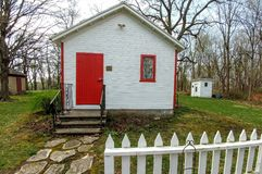 Hanchett Bartlett Homestead Schoolhouse in Beloit, WI. The Hanchett-Bartlett Homestead, an 1857 Victorian Farmstead, located at 2149 Saint Lawrence Avenue in Stock Images