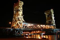 Hancock bridge houghton noc zdjęcia royalty free