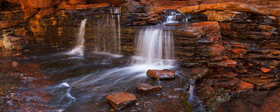 Hancock Gorge, Karijini NP, Western Australia. A small waterfall in the Hancock Gorge in Karijini National Park, Western Australia Royalty Free Stock Photos