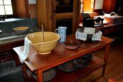 Hancock, mA: Cocina en Shaker Village Imágenes de archivo libres de regalías