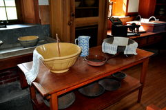 Hancock, MA: Kitchen at Shaker Village Royalty Free Stock Images
