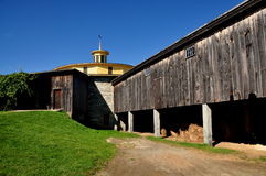 Hancock, MA: 1826 Round Barn Royalty Free Stock Images