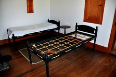 Hancock, mA : Shaker Village Bed photographie stock