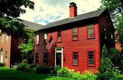 Hancock, NH: 18th Century Colonial Home Royalty Free Stock Image